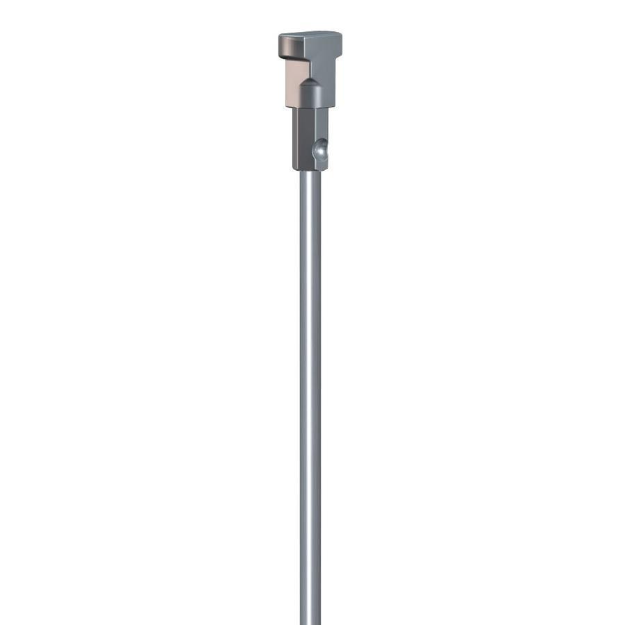 Stang RVS 2mm. met Twister-1