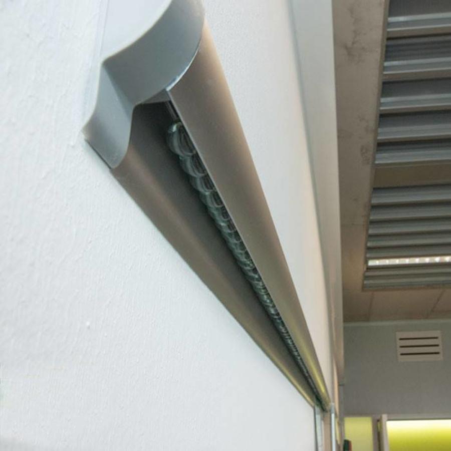 Knikkerrail alu kleurig, voor bevestiging papier-3
