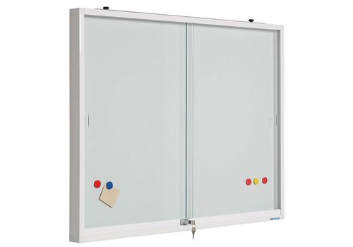 Binnenvitrine  glas met whiteboard