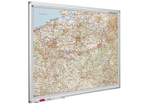 Wegenkaart Begie en Luxemburg