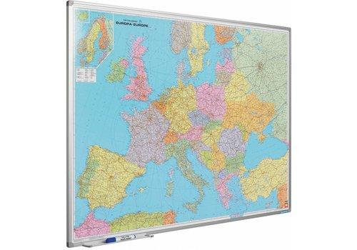 Landkaart van Europa en Softline profiel
