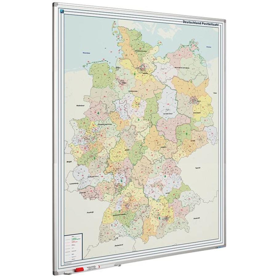 Postcodekaart van Duitsland  op whiteboard-1
