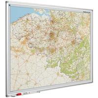 Postcodekaart van België op whiteboard