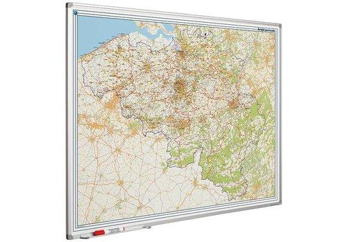 Postcode kaart Belgie met Softline profiel