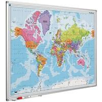 thumb-Wereldkaart met Softline profiel 120 x 90 cm.-1