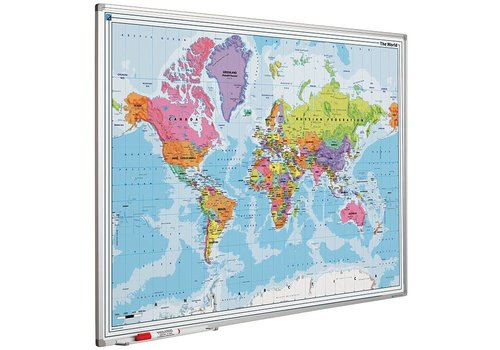 Wereldkaart met Softline profiel
