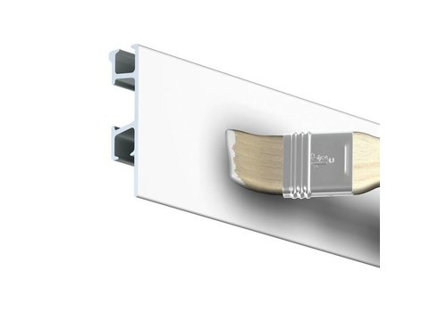 Click Rail Pro wit, 5 stuks van 2m of 3m