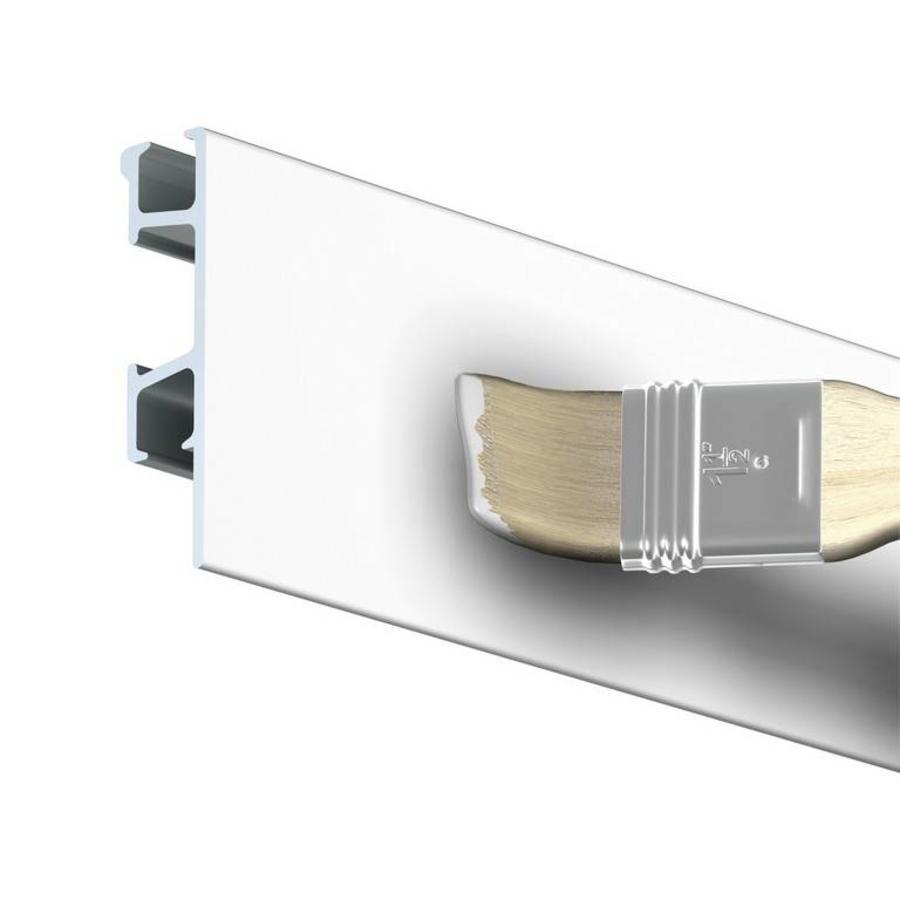 Artiteq Click Rail Pro.  Zwaarder uitgevoerd schilderij ophangsysteem, belastbaar tot 50 kg. /m. Kleur RAL 9016 overschilderbaar-1