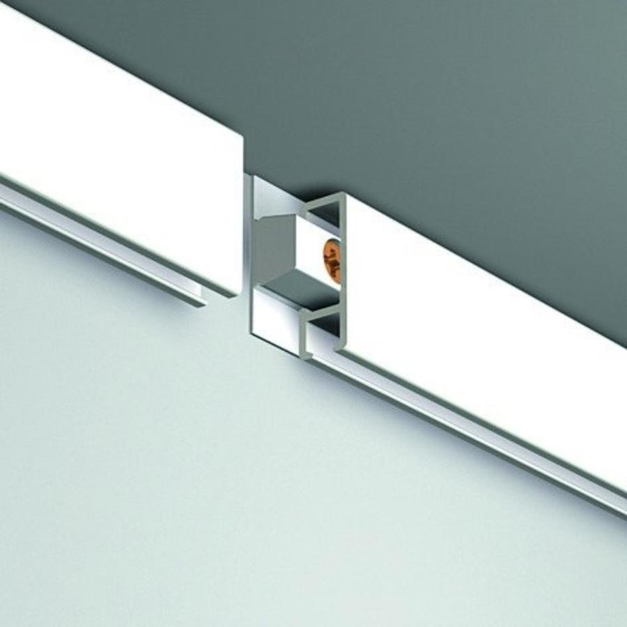 Artiteq Click Rail Pro.  Zwaarder uitgevoerd schilderij ophangsysteem, belastbaar tot 50 kg. /m. Kleur RAL 9016 overschilderbaar-4
