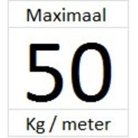 thumb-Artiteq Click Rail Pro.  Zwaarder uitgevoerd schilderij ophangsysteem, belastbaar tot 50 kg. /m. Kleur RAL 9016 overschilderbaar-5