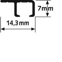 thumb-Top Rail.  Schilderij ophangsysteem voor montage aan de kantlat van een systeemplafond. zwart geanodiseerd-3
