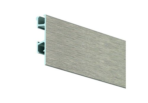 Click Rail Pro geborsteld aluminium