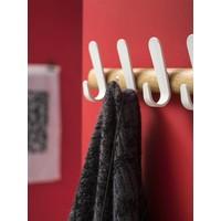 thumb-Wandkapstok Sticks HJH eikenhout met witte haken-2