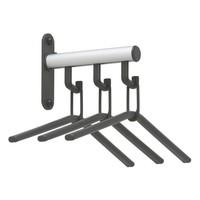 thumb-Wandkapstok Tertio HK serie 1-4 haken compleet met kledinghanger-3