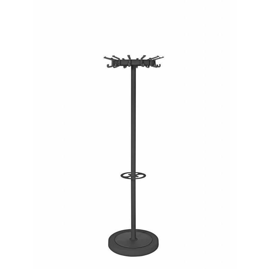 van Esch Tertio Jupiter+ staande kapstok met 12 dubbele haken en parapluring-1