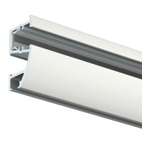 thumb-Artiteq Combi Rail Pro Light, schilderij ophangsysteem met LED spotjes. Compleet set met 2 meter rail, RAL 9010, en 2 spotjes, simpel af te korten.-2