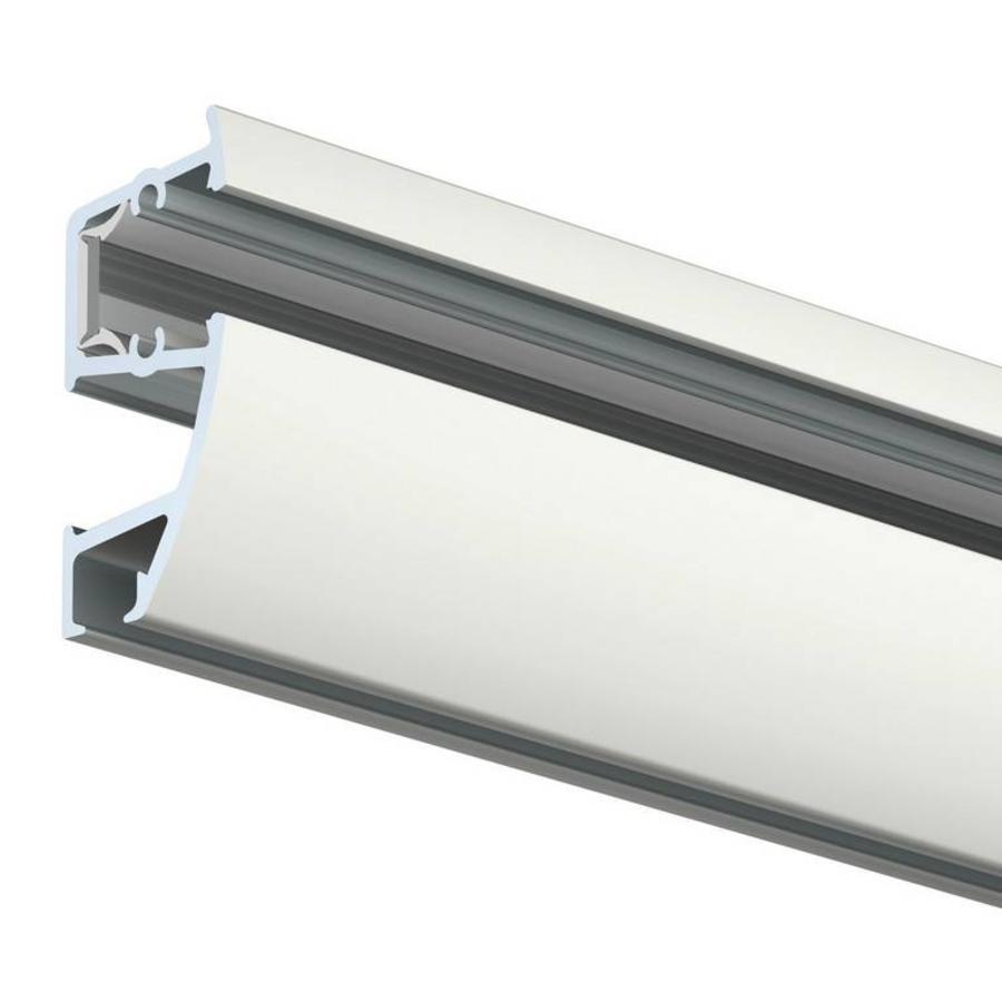 Artiteq Combi Rail Pro Light, schilderij ophangsysteem met LED spotjes. Compleet set met 2 meter rail, RAL 9010, en 2 spotjes, simpel af te korten.-2