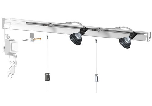 Combi Rail Pro Light, compleet set 2 meter