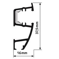 thumb-Combi Rail Pro Light wandschilderijrails met verlichting compleet set met rail van 2 meter-3