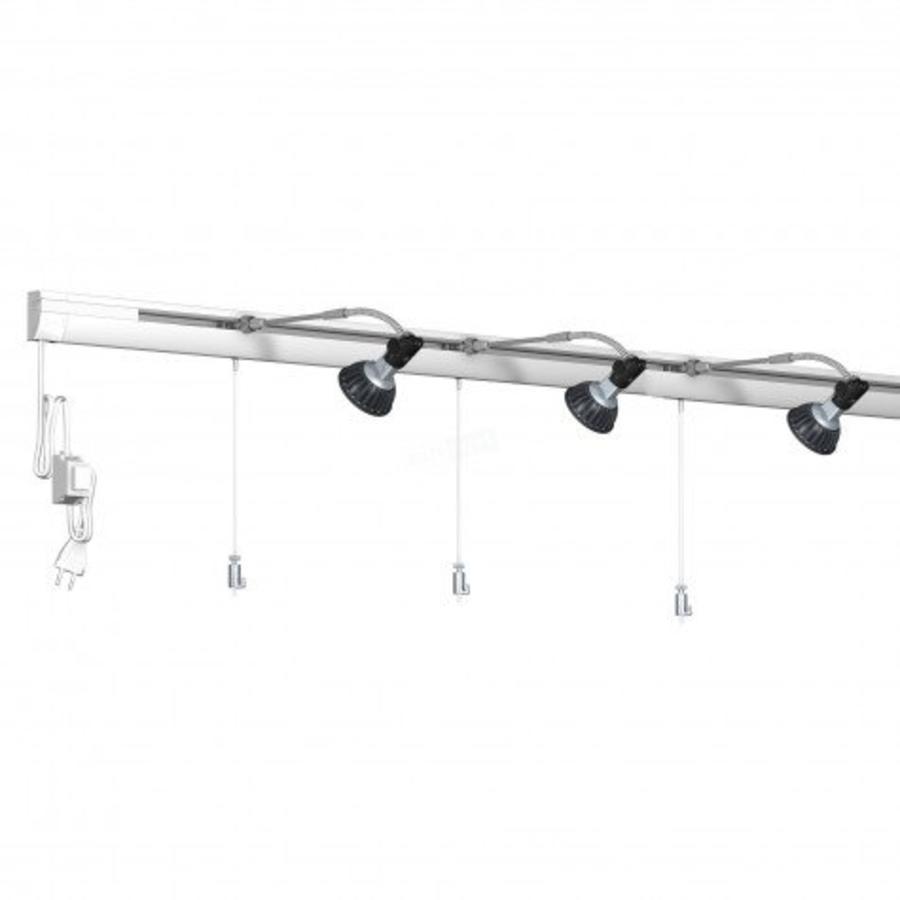 Combi Rail Pro Light wandschilderijrails met verlichting compleet set met rail van 6 meter-1