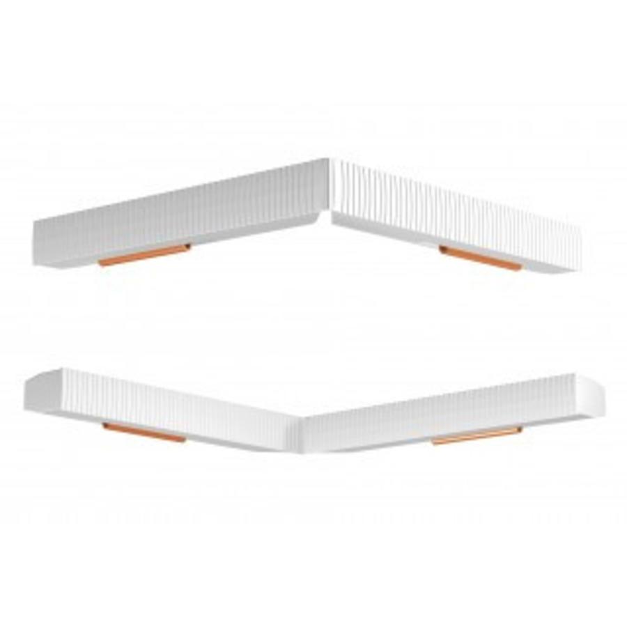 Artiteq Combi Rail Pro Light, schilderij ophangsysteem met LED spotjes. Compleet set met 2 meter rail, RAL 9010, en 2 spotjes, simpel af te korten.-6