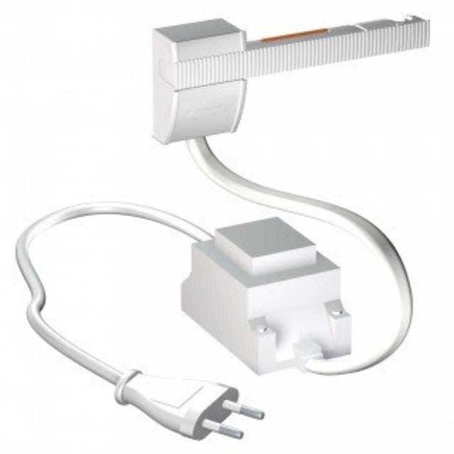 Artiteq Combi Rail Pro Light, schilderij ophangsysteem met LED spotjes. Compleet set met 2 meter rail, RAL 9010, en 2 spotjes, simpel af te korten.-7