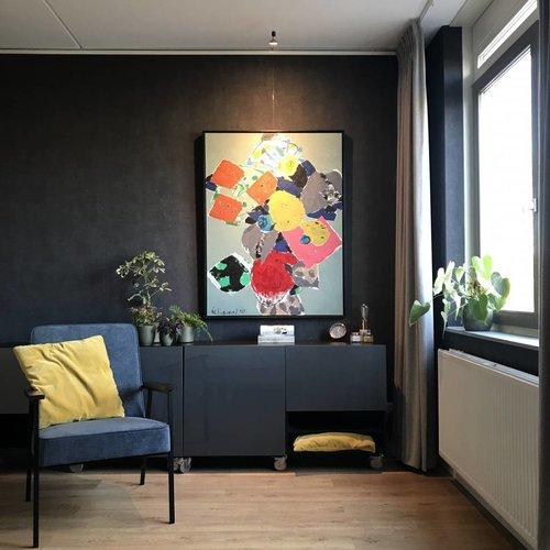 Wand ophangsysteem met verlichting