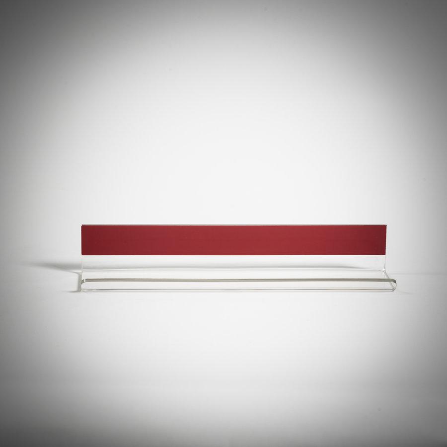 Transparante afleggoot voor stiften en wissers  voor whiteboard en stalen wand-2