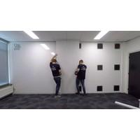 thumb-Whiteboard wandpaneel van 88 x 118 cm met rechte hoeken-4