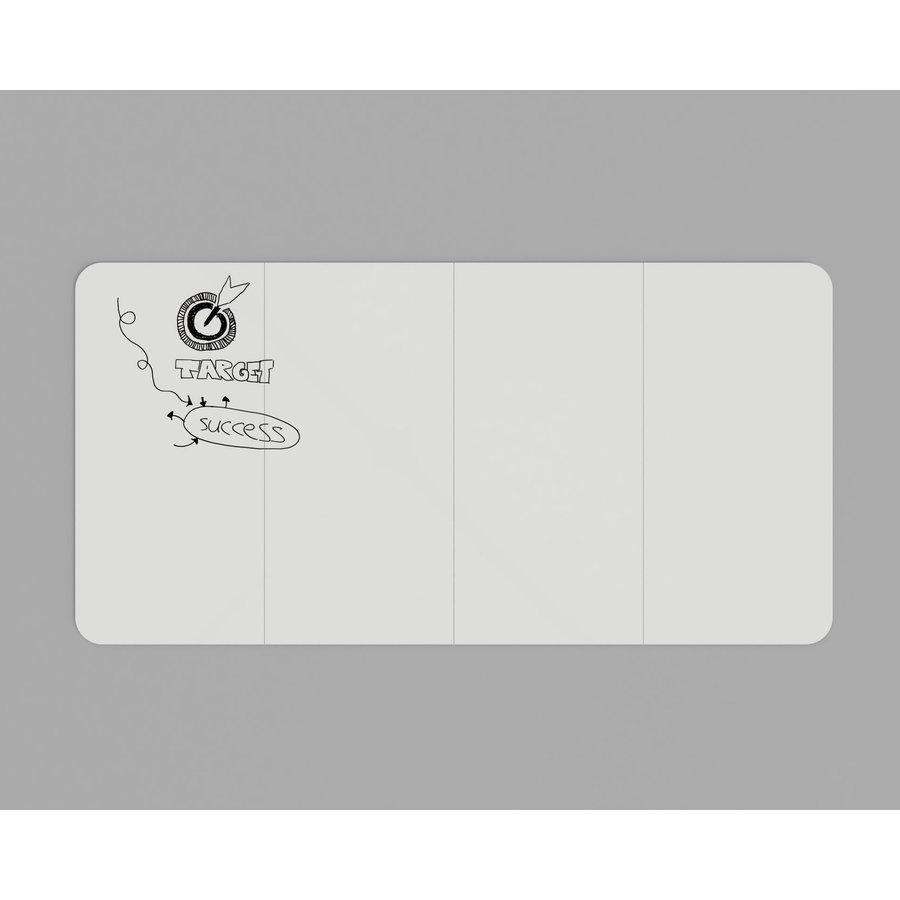 Whiteboard wand met afgeronde hoeken 198x392 cm.-5