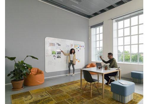 VisuWall Chameleon whiteboard 198 x 392 cm