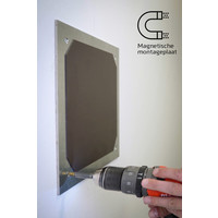 thumb-Whiteboard wand met afgeronde hoeken 198x392 cm.-6