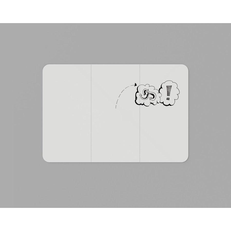Whiteboard wand met afgeronde hoeken 198x392 cm.-1