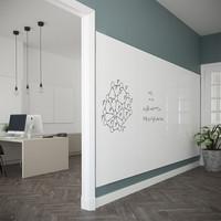 thumb-Whiteboard wandpaneel van 98 x 198 met rechte hoeken-4