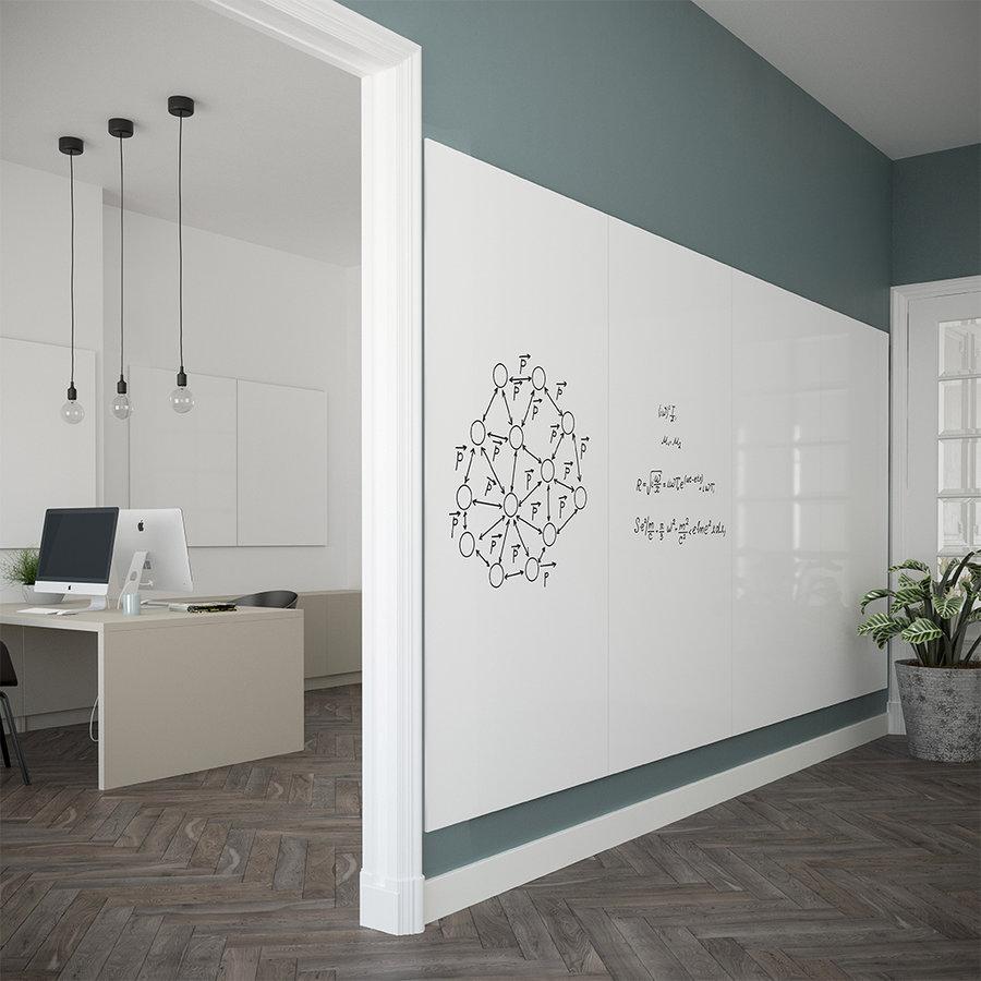 Whiteboard wandpaneel van 98 x 198 met rechte hoeken-4