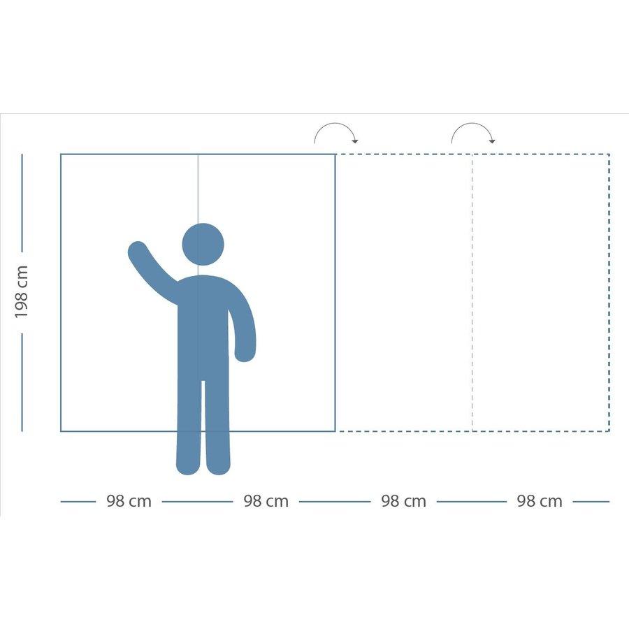 Whiteboard wandpaneel van 98 x 198 met rechte hoeken-6