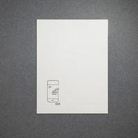 thumb-Whiteboard wandpaneel van 88 x 118 cm met rechte hoeken-1