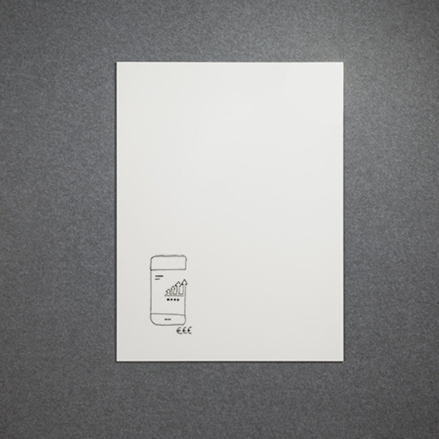 Whiteboard wandpaneel van 88 x 118 cm met rechte hoeken-1