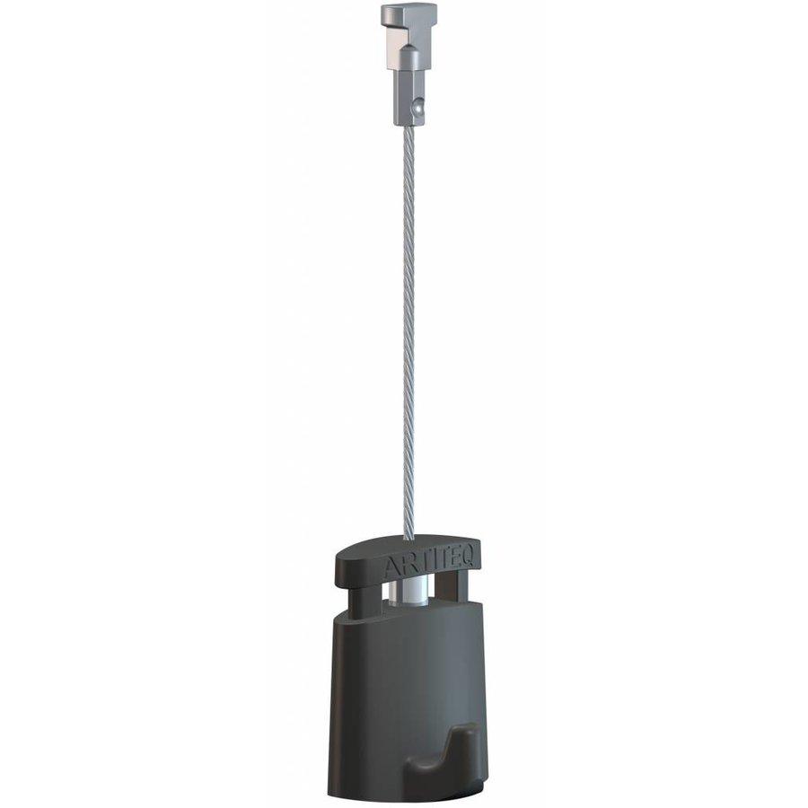Zwart staaldraad 1 mm. met Twister-1