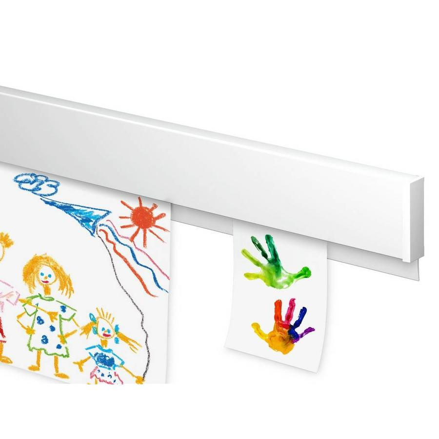 Artiteq Info Rail kleur wit. voor het flexibel ophangen van tekeningen, orders etc. voor thuis, op school en op het werk.-1