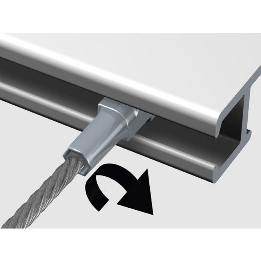 Staaldraad 2 mm. met Twister-4