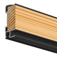 thumb-Artiteq Art Strip, zwarte kantlat met schilderijrails voor tegen de wand-1