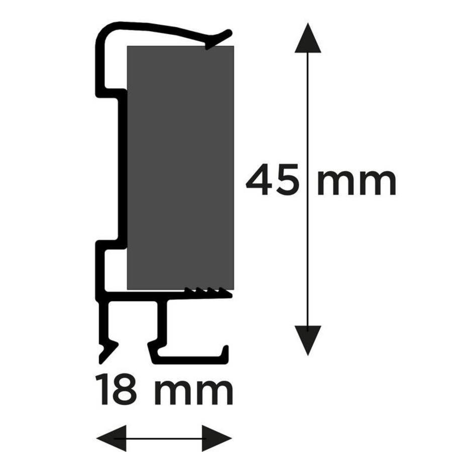 Artiteq Art Strip, zwarte kantlat met schilderijrails voor tegen de wand-2
