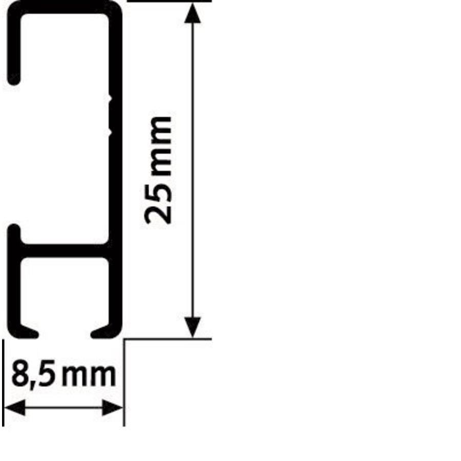 Artiteq Click Rail wit, RAL 9010.  Schilderij ophangsysteem voor bevestiging aan de wand met de makkelijke Click&Connect clips.-4