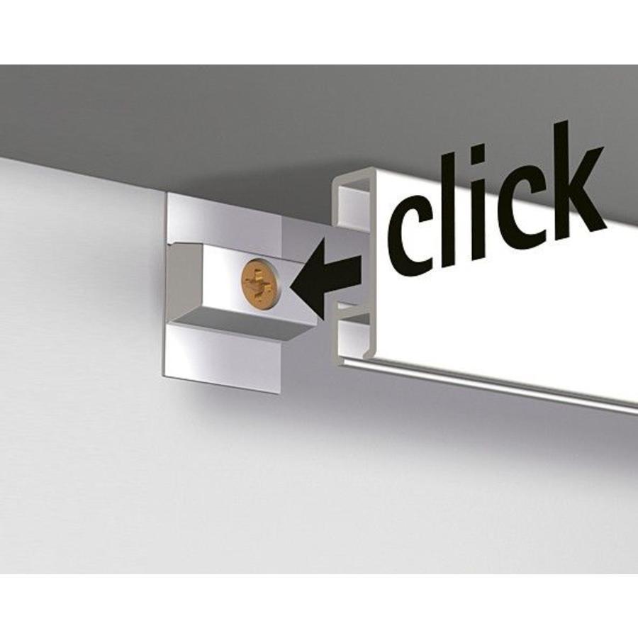 Artiteq Click Rail wit, RAL 9010.  Schilderij ophangsysteem voor bevestiging aan de wand met de makkelijke Click&Connect clips.-2