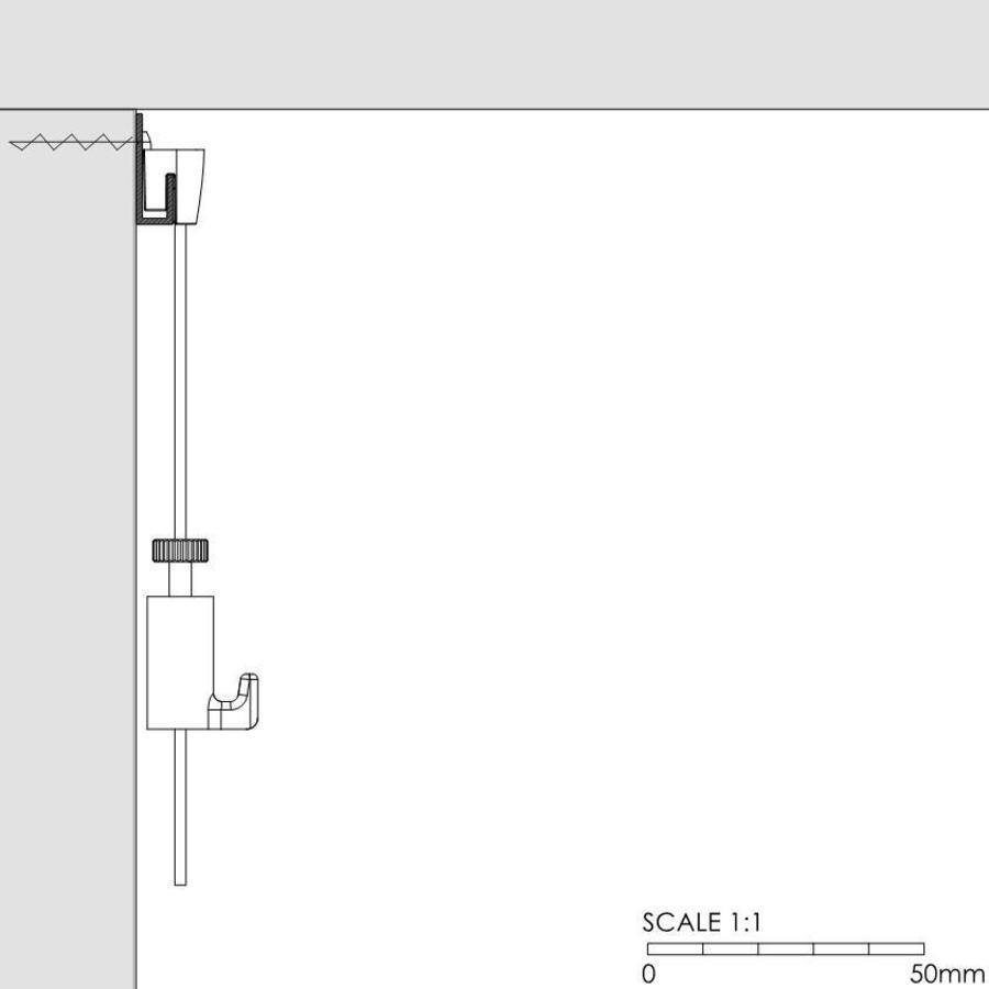 Classic Rail wit, RAL 9010, wandrail voor galerieën-2