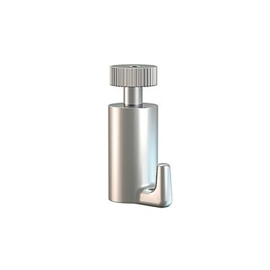 Zelfklemmende Palhaak van Artiteq.  klemt zich automatisch vast om de perlon-,  of stalendraad of 2 mm. stang.  max. 15 kg.-1