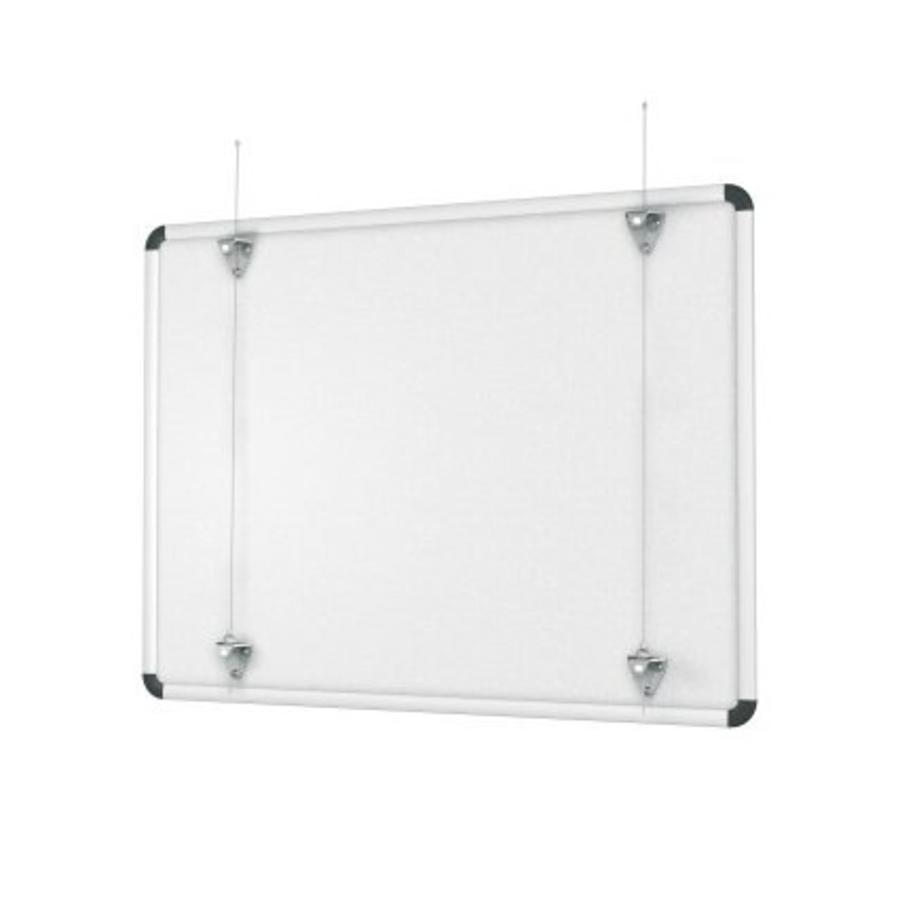 Whiteboard ophangset voor het ophangen van white-, of prikborden aan een systeem wand of een schilderij ophangsysteem-1