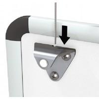 thumb-Whiteboard ophangset voor het ophangen van white-, of prikborden aan een systeem wand of een schilderij ophangsysteem-2