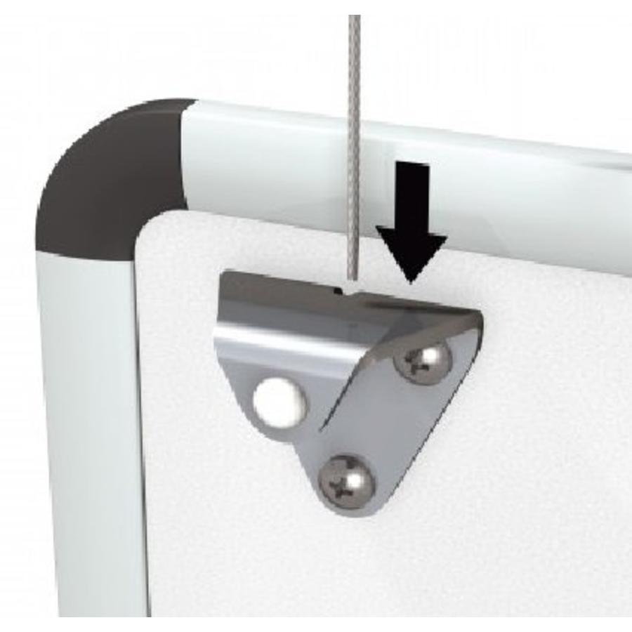 Whiteboard ophangset voor het ophangen van white-, of prikborden aan een systeem wand of een schilderij ophangsysteem-2